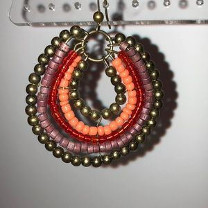 Jewelry - Multicolor Beaded Hoops